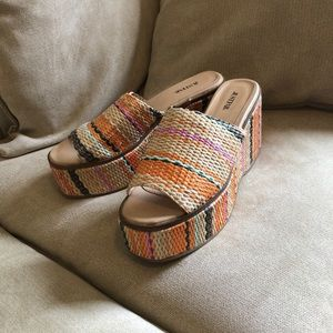 8.5 Multicolored Wicker Wedges by Justfab